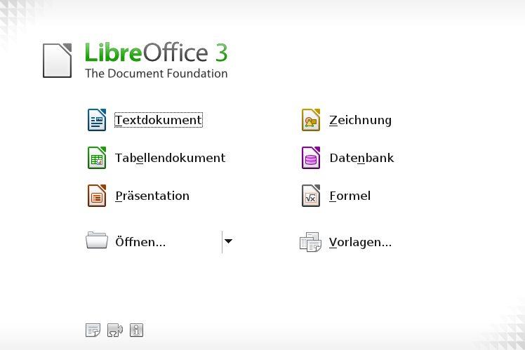 Libre Office - Start Center