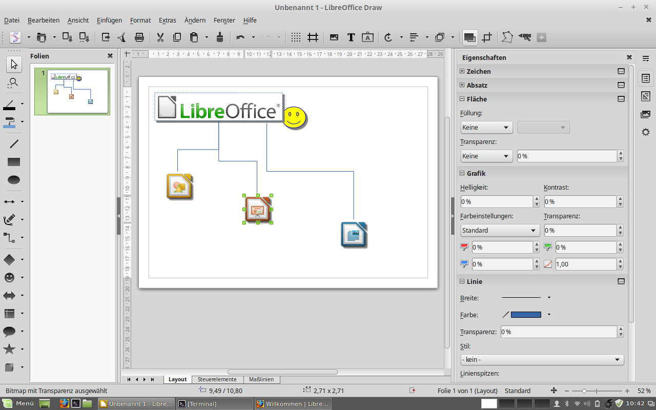 Libre Office - Draw Zeichnung