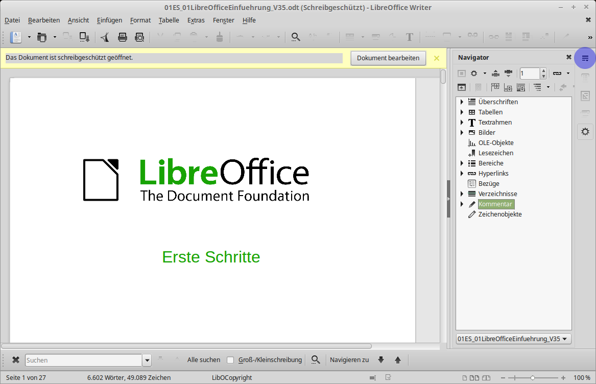 Libre Office - Writer